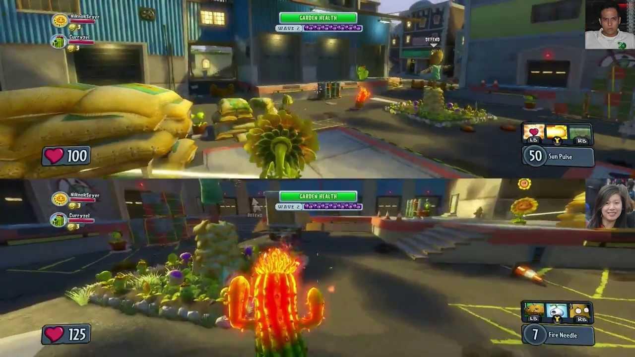 Plants Vs Zombies Garden Warfare Garden Ops Split Screen Day 2 Youtube