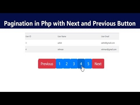 Pagination In Php With Next And Previous Button