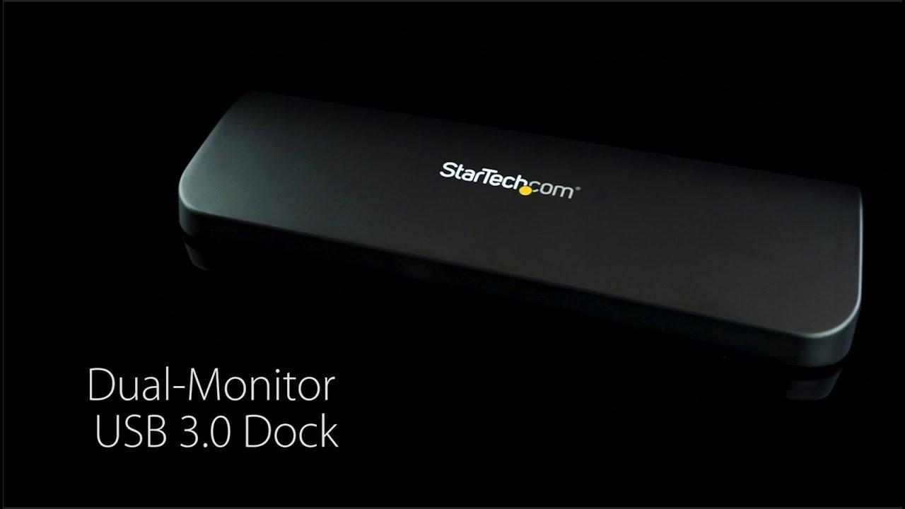 Universal Laptop Docking Station - Dual Monitor | StarTech com