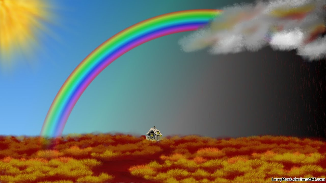 Images Of Rainbow With Rain | www.pixshark.com - Images ... Rainbow
