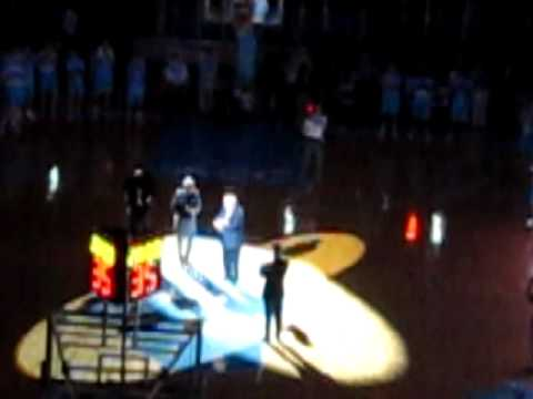 Dean Smith Halftime Recognition and Video @ Carolina