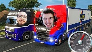 A VIAGEM em DUPLA SEM ACIDENTES! - Euro Truck Simulator 2 MP!!!