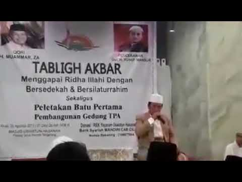 H Muammar ZA - LIVE Di Masjid Uswatun Hasanah