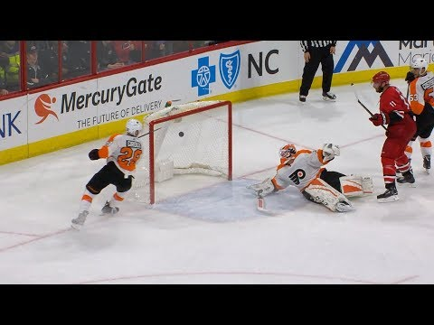Brian Elliott makes incredible stick save in OT