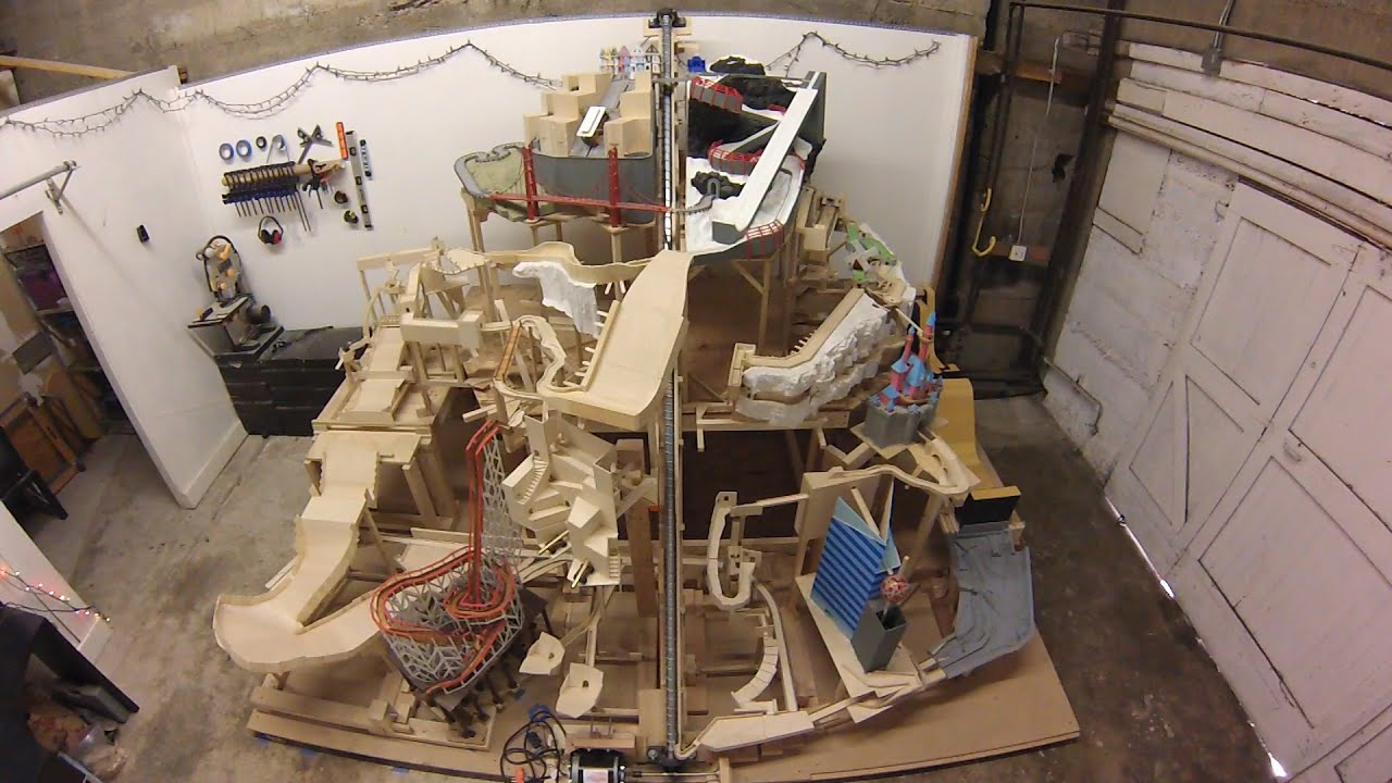 Marble Mountain, a themed marble machine (marble run ...