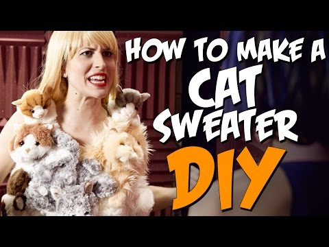 How To Make A Cat Sweater! KOA DIY