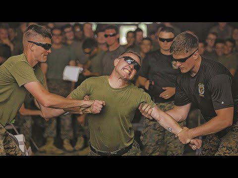 Marines Take Tazer Shot Like a Boss! US Marines Tazer Traini