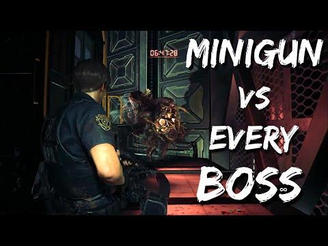 Killing ALL Bosses with the MINIGUN | Resident Evil 2 REMAKE