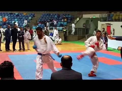 KARATE INDIA ** 17th DELHI STATE CHAMPIONSHIP ** SENIOR ** ABOVE 75 KG WEIGHT CATEGORY FINAL BOUT