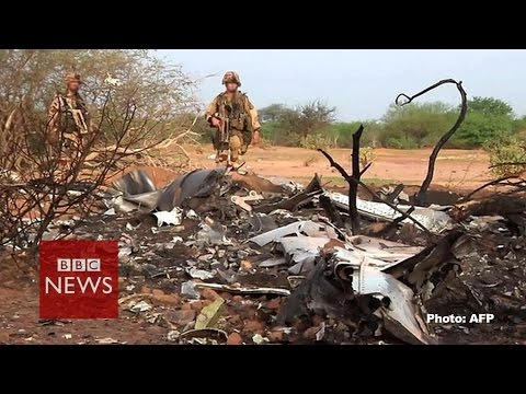 Video from Air Algerie crash site - BBC News