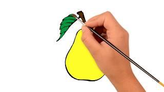 Как рисовать груша - дошкольное обучение - Pазвлекательныe и образовательные игры для детей