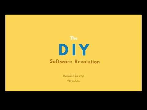 Airtable SXSW 2016 Talk - The DIY Software Revolution