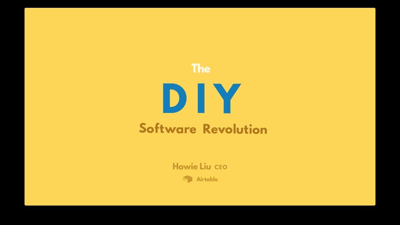 Airtable SXSW 2016 Talk - The DIY Software Revolution
