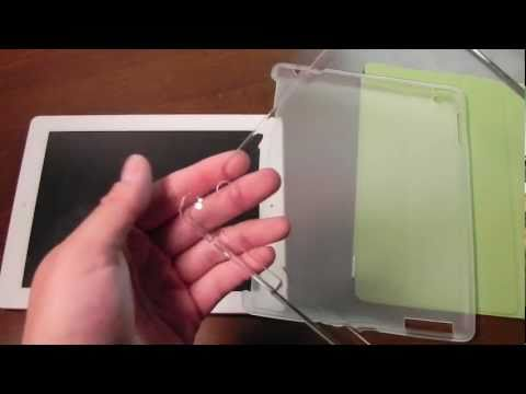 Cheap IPad 2 Accessories: 2 Back Covers (Smart Cover Compatible), 1 Green Smart Cover