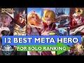 12 BEST META HEROES FOR SOLO RANK SEASON 20 (2021) | MOBILE LEGENDS BEST HEROES