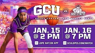 GCU Women's Basketball vs NMSU  |  Jan. 16, 2021