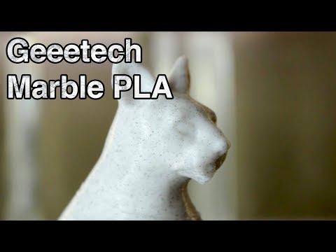 Geeetech 3D Printer Marble PLA - 1,75mm PLA Filament Test