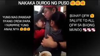 OFW PRETENDED AS FASTFOOD CREW TO SURPRISE HIS DAUGHTER  😭😭😭