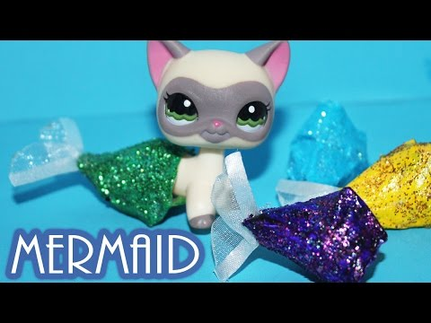 DIY how to make Mermaid Tails for LPS and Dolls | Alice LPS