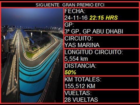 F1 2016 LaeFci - Gran Premio de Abu Dhabi  3/10 | EN DIRECTO