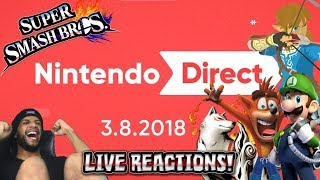 Nintendo Direct 3.8.2018 FULL LIVE REACTIONS W/COBANERMANI456 & MANNHEIMER