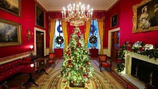 So sieht die Weihnachtsdeko im Weißen Haus aus