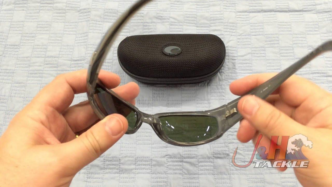 8d58fe95626 Costa Del Mar Hammerhead 580G Silver Teak Frame Blue Mirror Lenses  Sunglasses
