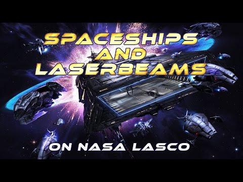 SPACESHIPS and LASERBEAMS on NASA Soho Cams ...