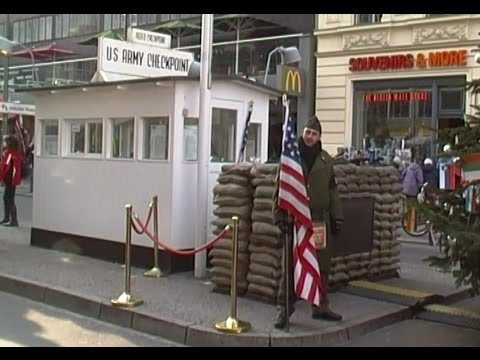Checkpoint Charlie. Crossing point between East and West Ber