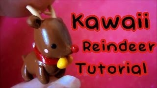 Kawaii Reindeer_ Christmas Tutorial #1: Polymer Clay!