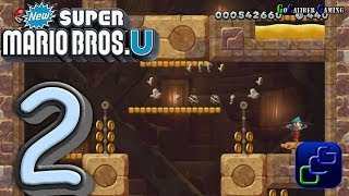 New Super Mario Bros  U Walkthrough - Part 2 - World 2: Layer Cake Desert 1-3, Stoneslide Tower