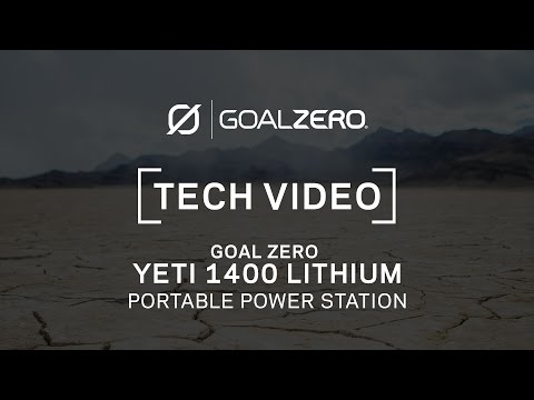 GOAL ZERO YETI 1400 LITHIUM | Tech Video