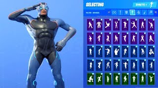 CARBIDE SKIN SHOWCASE WITH ALL FORTNITE DANCES & EMOTES