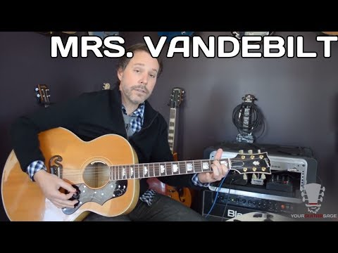 How to play Mrs. Vandebilt Paul McCartney and Wings - Acoustic Guitar Lesson