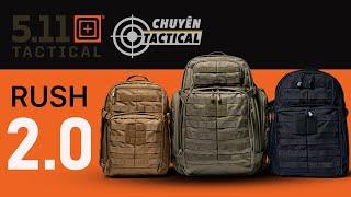 Review 5.11 Tactical RUSH 2.0 - Balo RUSH 12 phiên bản 2.0 - Chuyentactical.com