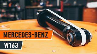 Jak vyměnit Tlumic perovani на MERCEDES-BENZ M-CLASS (W163) - online zdarma video