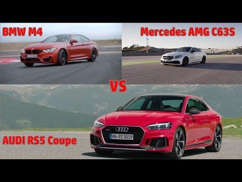 Audi Rs5 Coupe Vs Bmw M4 Vs Amg C63s лучшие приколы самое
