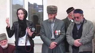 собрание в Юрт-Аухе с Алжаной Сатихановой