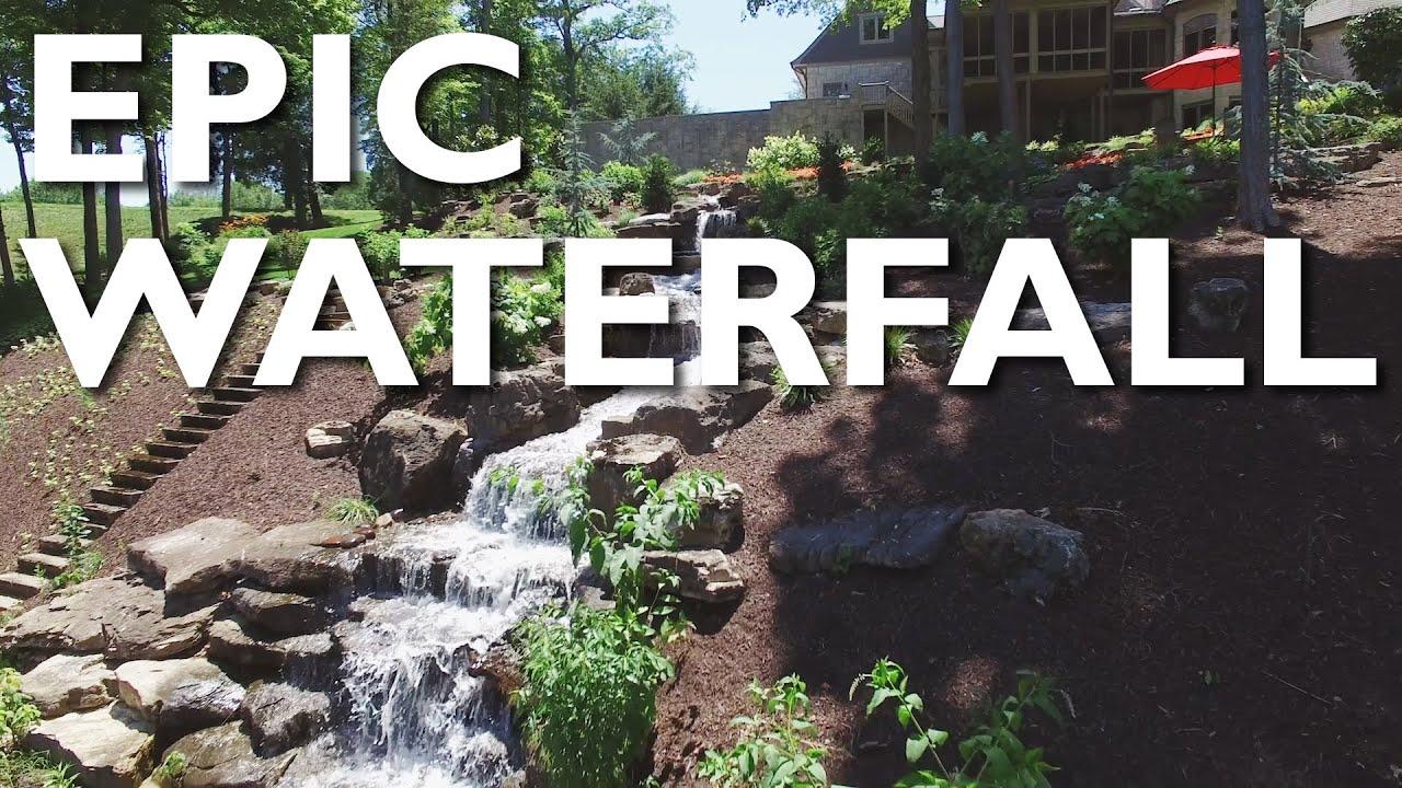 Build a waterfall in your backyard aching acres for Build a waterfall in your backyard