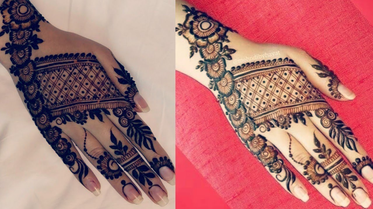 Trending Mehndi Designs 50 Latest Henna Tattoo Ideas For 2018: Most Beautiful&Trending Back Hand Mehndi Design 2018