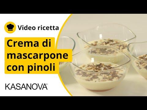 Crema di mascarpone con pinoli