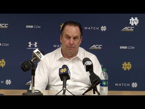 @NDmbb Mike Brey Post-Game Press Conference vs. Pittsburgh (2018)