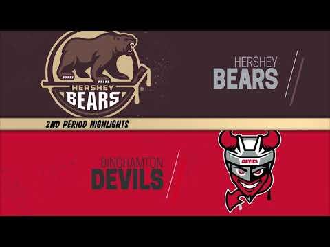 Hershey Bears 3 at Binghamton Devils 4 - OT (2/14/2020)