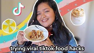 PANCAKE CEREAL? Trying VIRAL TikTok Food Hacks  TikTok Recipes TESTED