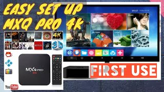 EASY SET UP MXQ PRO 4K ANDROID ULTRA HD TV BOX / HOW TO / SET-UP / SET UP /