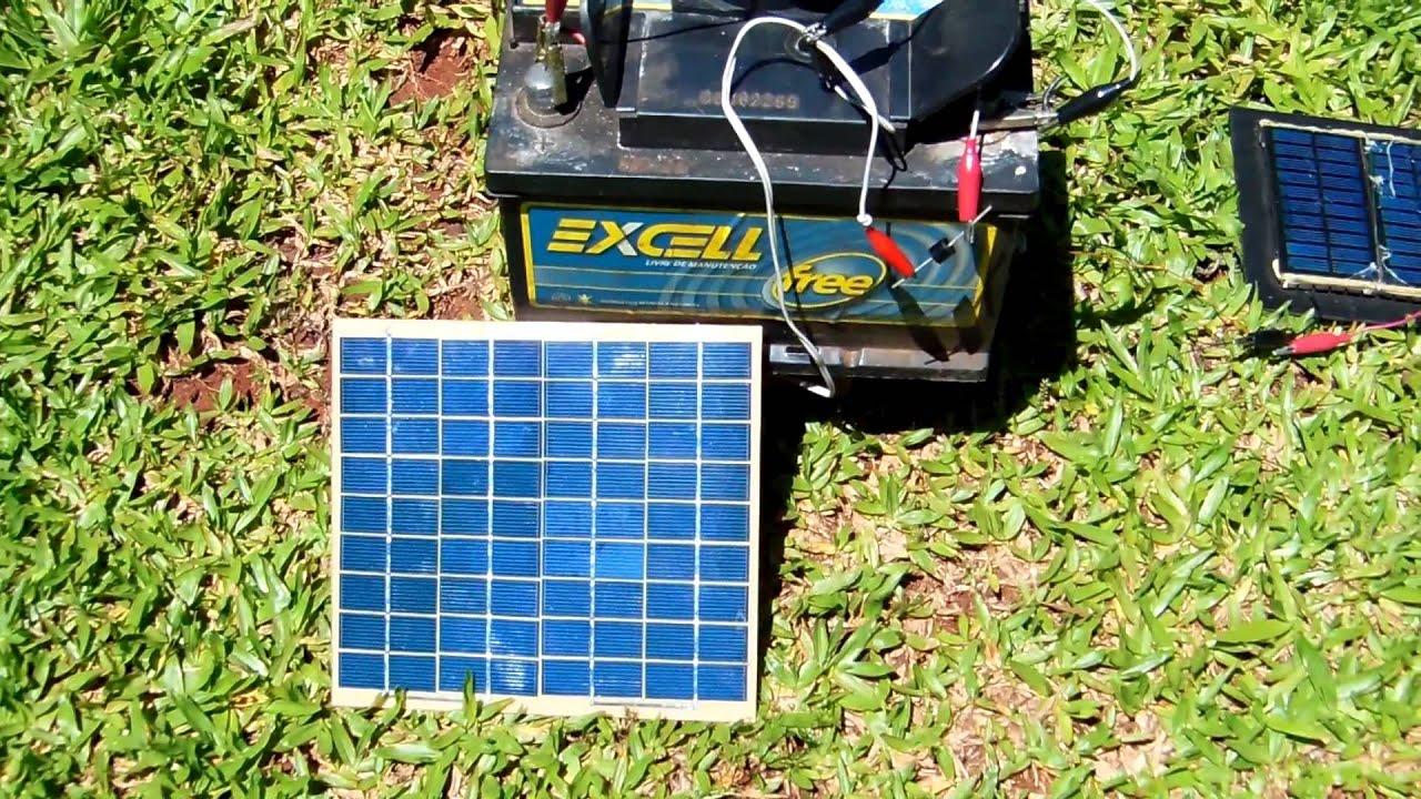 Carregar bateria com painel solar youtube for Baterias de placas solares
