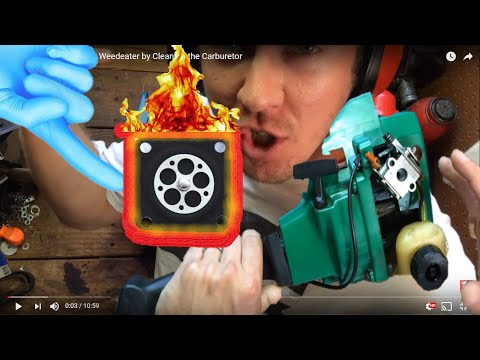 How To Fix a Featherlite Weedeater by Cleaning the Carburetor