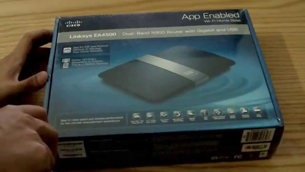 Linksys EA4500 Dual-Band N900 Gigabit Router with USB Unboxing and First  Looks