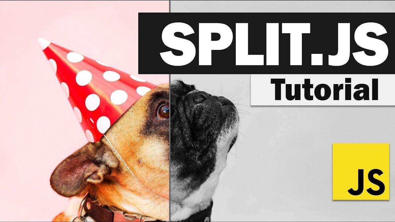 Create Split Screen Effect on your Website Using Split.js