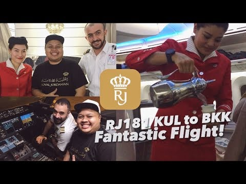 Royal Jordanian Dreamliner Crown Class RJ181 KUL to BKK | Super Nice Crews.. Flight VLOG!
